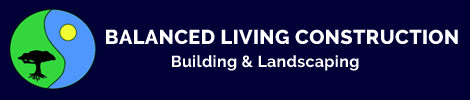 Balanced Living Construction | Building and Landscaping Logo